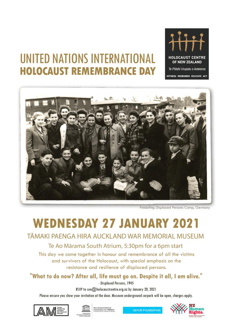 78B3659C 58E3 4FE9 AEAD 91CE58B2B9D0 - UN International Holocaust Remembrance Day 2021 in Auckland