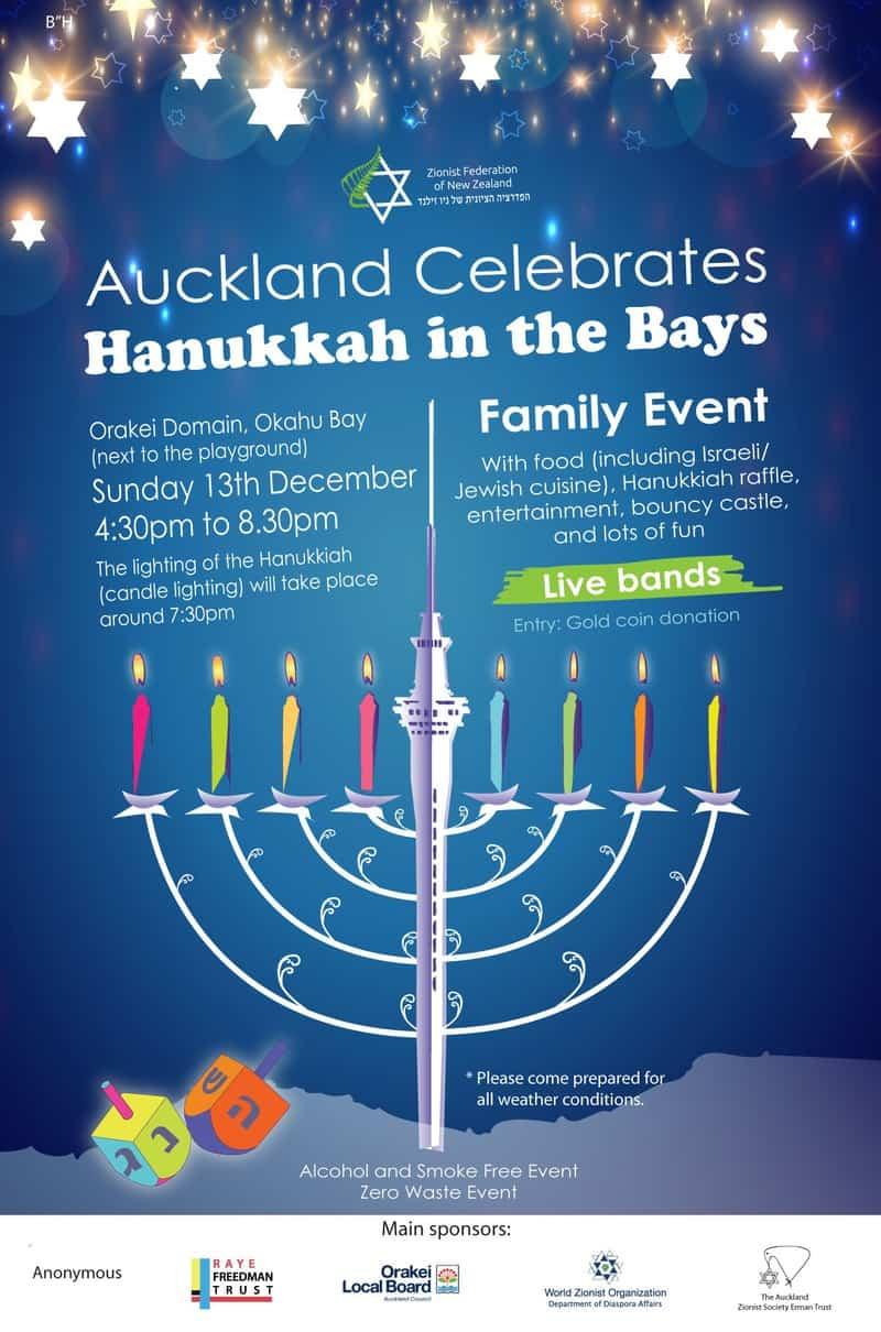 Final 2020 Hanukkah in the Bays poster - Hanukkah in the Bays 2020 - Auckland