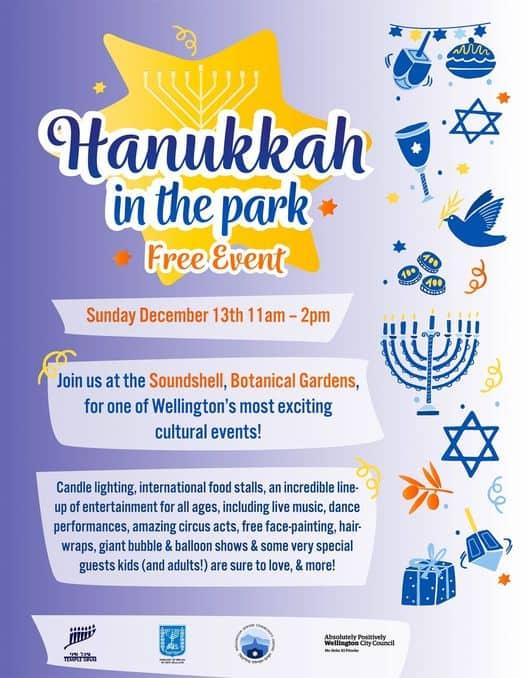 Hanukkah in the park Wellington - Hanukkah in the park 2020 - Wellington