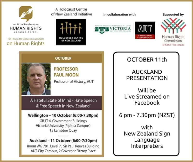 Livestream W Larger logos Paul Moon - HCNZ Speaker Series: Professor Paul Moon