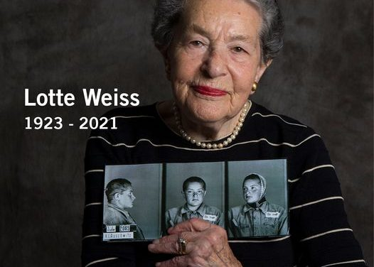 Lotte Weiss 1923 – 2021: May her memory be a blessing