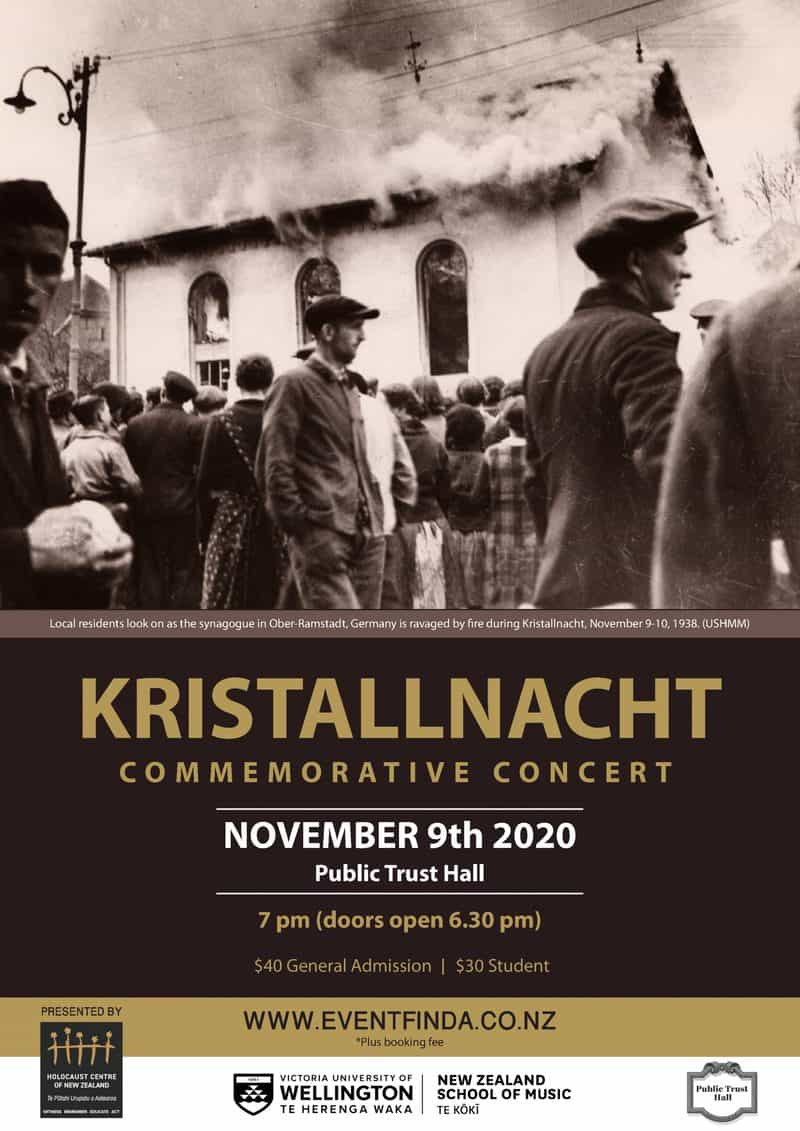 MAIN POSTER KN Concert 2020 scaled - Kristallnacht Commemorative Concert: Resilience and Reinvention