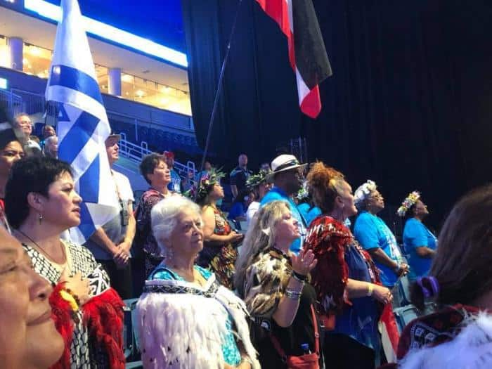 Maori Pacific Pearls march in Jerusalem for Sukkot