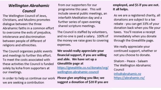 abrahamc - Wellington Abrahamic Council Appeal