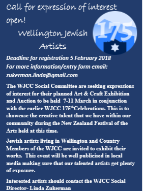 Calling Wellington Jewish artists
