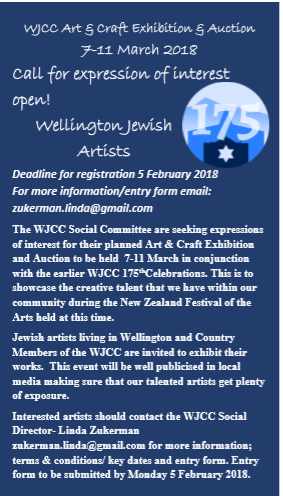 Calling Wellington Jewish artists