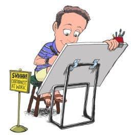 Anti-Israel cartoonist Malcolm Evans strikes again