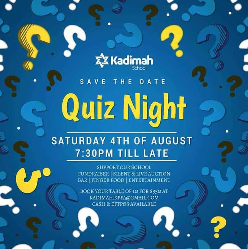 kadimah quiz - Kadimah Quiz Night